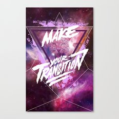 Make your transition (purple) Canvas Print