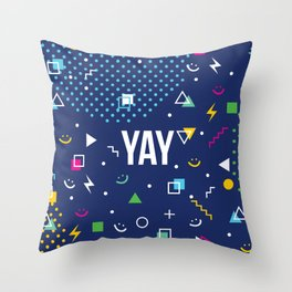 YAY Crazy + Colourful Throw Pillow