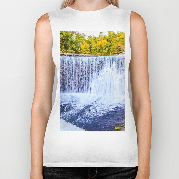 Monk's waterfall Biker Tank