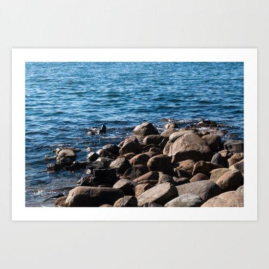 Rocks on the Water Art Print