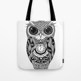Owl of Time Tote Bag