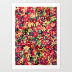 Where The Flowers Cry Art Print