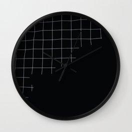 Broken Grid Wall Clock