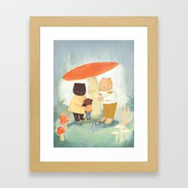 Under the Mushroom by Emily Winfield Martin Framed Art Print