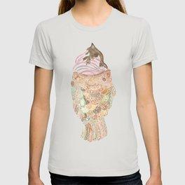 Watercolor Taiyaki Ice Cream Fish T-shirt