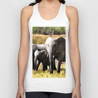 elephants Tank Tops featuring Elephants by Regan's World