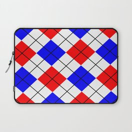 Red And Blue Argyle Design Laptop Sleeve