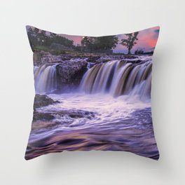 Sunset Waterfalls in Sioux Falls Throw Pillow