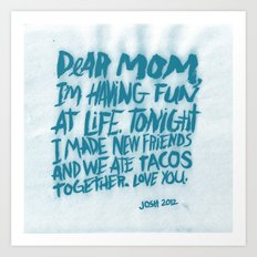 DEAR MOM Art Print