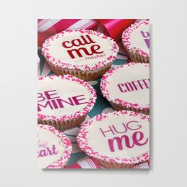 message cup cakes Metal Print