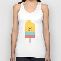 icecream Tank Tops featuring Moody Icecream by Marie O'Neill