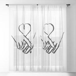 One Heart Sheer Curtain