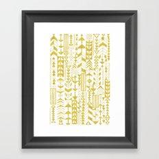 Golden Doodle arrows Framed Art Print