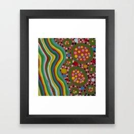 Untitled, rainbow striped Framed Art Print