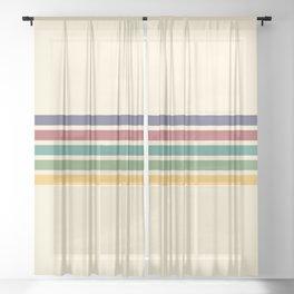 Rainbow Stripes III Sheer Curtain