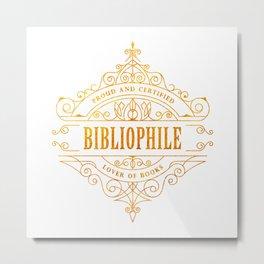 Gold Bibliophile Metal Print