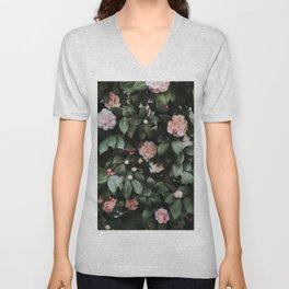 Light Pink Camellias Unisex V-Neck