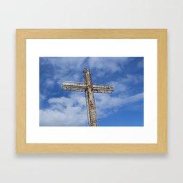 cross in the sky Framed Art Print
