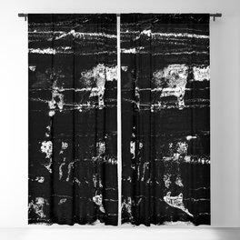 Distressed Grunge 102 in B&W Blackout Curtain