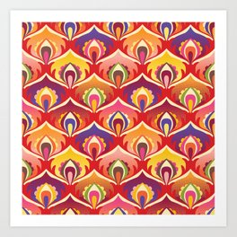 Flower power hippie floral Art Print