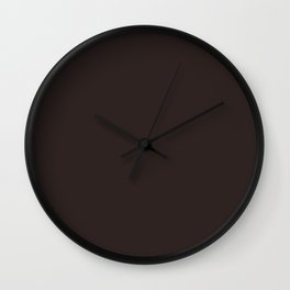 Asymmetrical Glow ~ Brown Taupe Wall Clock