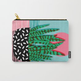 Edgy - wacka potted indoor house plant hipster retro throwback minimal 1980s 80s neon pop art Carry-All Pouch