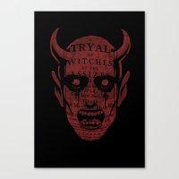satan Canvas Prints featuring Satan by Gurven