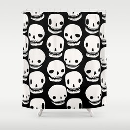 Skull Print Shower Curtain