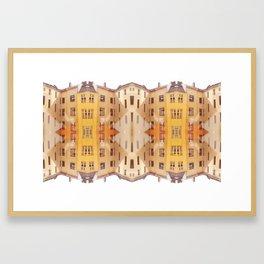 city house pattern Framed Art Print