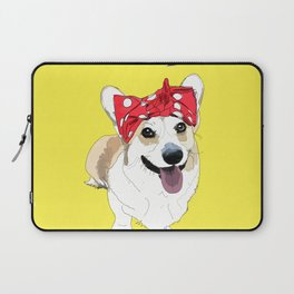Political Pups - Register To Vote Corgi Laptop Sleeve