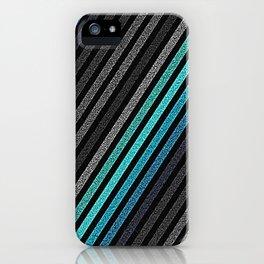 stripeS : Slate Gray Teal Blue Pixels iPhone Case