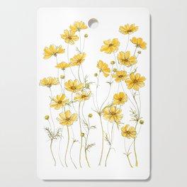 Yellow Cosmos Flowers Cutting Board