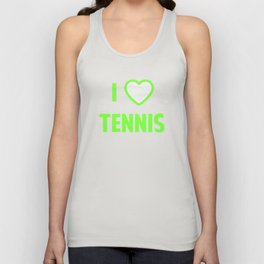 I Heart Tennis Unisex Tank Top