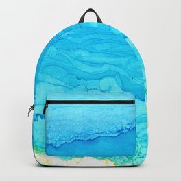 Alcohol Ink Beach Backpack