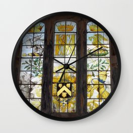 Holy Trinity Old Church, Stained Glass Window, Wentworth, Rotherham Wall Clock