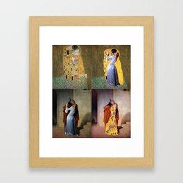 klimt and hayez kiss Framed Art Print
