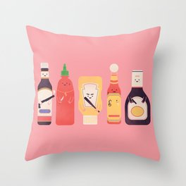 Ex-Condiments Throw Pillow