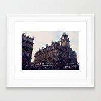 edinburgh Framed Art Prints featuring Edinburgh by Margo Giannaklis Photography