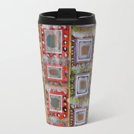 Many ornamented Frames put in vertical Rows Travel Mug