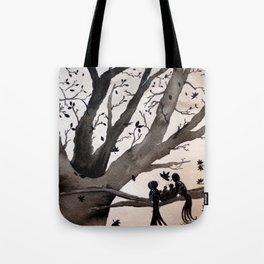 Fall Bird Family Tote Bag