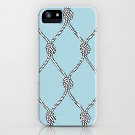 Rope Knots Print- Light Blue iPhone Case