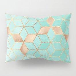 Soft Gradient Aquamarine Pillow Sham