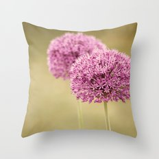 Alliums Throw Pillow