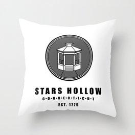 Stars Hollow Tourism Logo Throw Pillow