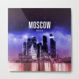 Moscow Wallpaper Metal Print