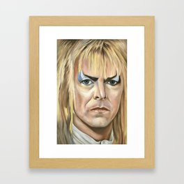 Jareth the Goblin King Framed Art Print