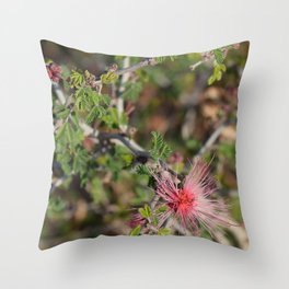 Desert Wildflower Bush Throw Pillow