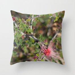 Desert Wildflower Bush Throw Pillow