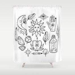 Bohemian magic alchemy print Shower Curtain