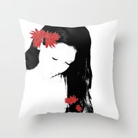 girly Throw Pillows featuring girly by beautifyprints